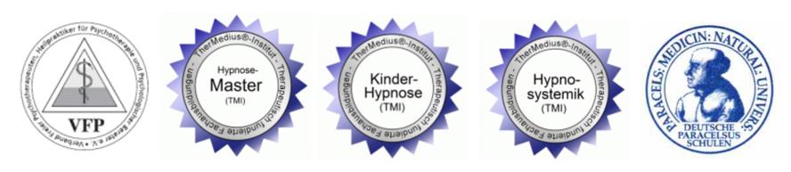 Zertifikate Patricia Heniz Hypnose EMDR Therapeutin Augsburg München